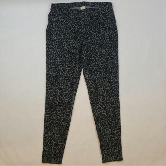 47e3ec8d50904 Faded Glory Pants | Black Leopard Full Length Knit Jegging | Poshmark